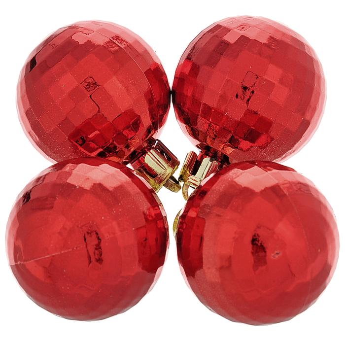 Набор новогодних подвесных украшений Диско шар, цвет: красный, 4 шт35510Набор новогодних подвесных украшений Диско шар состоит из четырех елочных игрушек, выполненных из пластика в форме шариков. Украшения отлично подойдут для декорации вашего дома и новогодней ели. Игрушки оснащены специальными отверстиями и комплектуются нитями для подвешивания. Елочная игрушка - символ Нового года. Она несет в себе волшебство и красоту праздника. Создайте в своем доме атмосферу веселья и радости, украшая всей семьей новогоднюю елку нарядными игрушками, которые будут из года в год накапливать теплоту воспоминаний. Коллекция декоративных украшений из серии Magic Time принесет в ваш дом ни с чем не сравнимое ощущение волшебства!