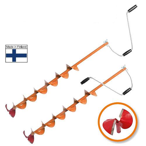Ледобур Heinola SpeedRun Classic, диаметр 13,5 смHL1-135-800Heinola SpeedRun - оригинальный финский ледобур, главной отличительной чертой которого является высокая скорость сверления лунок.При производстве ледобуров Heinola SpeedRun используется только самая качественная финская сталь. Режущая кромка головки сформирована путем наплавки особо твердой износостойкой нержавеющей сварочной проволоки LNM 420FM американской компании Lincoln Electric.Преимущества Heinola SpeedRun:Самая высокая скорость сверления льда.Специальная сферическая форма ножей - это минимальное усилие при сверлении льда.Очень прочные режущие ножи. Твердость стали позволяет использовать режущую головку до 5 лет без дополнительной правки и заточки - существенная экономия при эксплуатации ледобура.Бесшумное сверление льда - не распугаете свою и чужую рыбу.Универсальность: можно использовать режущие головки разных диаметров.Уникальный профиль спирали шнека очень прочен и чисто удаляет шугу из лунки.Полимерное покрытие выдерживает резкие колебания температуры и сильные механические нагрузки.Всегда готов к работе - режущая головка не обмерзает при самых низких отрицательных температурах.Современный дизайн.Высочайшее качество.Сервисное обслуживание в крупнейших городах.