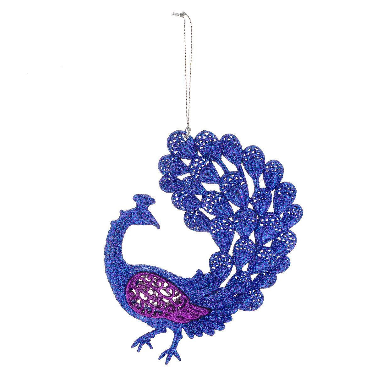 Новогоднее подвесное украшение Павлин, цвет: фиолетовый. 3507135071