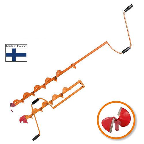 """Heinola """"SpeedRun"""" - оригинальный финский ледобур, главной отличительной чертой которого является высокая скорость сверления лунок. При производстве ледобуров Heinola """"SpeedRun"""" используется только самая качественная финская сталь. Режущая кромка головки сформирована путем наплавки особо твердой износостойкой нержавеющей сварочной проволоки LNM 420FM американской компании Lincoln Electric. Преимущества Heinola """"SpeedRun"""": Самая высокая скорость сверления льда. Специальная сферическая форма ножей - это минимальное усилие при сверлении льда. Очень прочные режущие ножи. Твердость стали позволяет использовать режущую головку до 5 лет без дополнительной правки и заточки - существенная экономия при эксплуатации ледобура. Бесшумное сверление льда - не распугаете свою и чужую рыбу. Универсальность: можно использовать режущие головки разных диаметров. Уникальный профиль спирали шнека очень прочен и чисто удаляет шугу из лунки. Полимерное покрытие выдерживает резкие колебания температуры и сильные механические нагрузки. Всегда готов к работе - режущая головка не обмерзает при самых низких отрицательных температурах. Современный дизайн. Высочайшее качество. Сервисное обслуживание в крупнейших городах."""