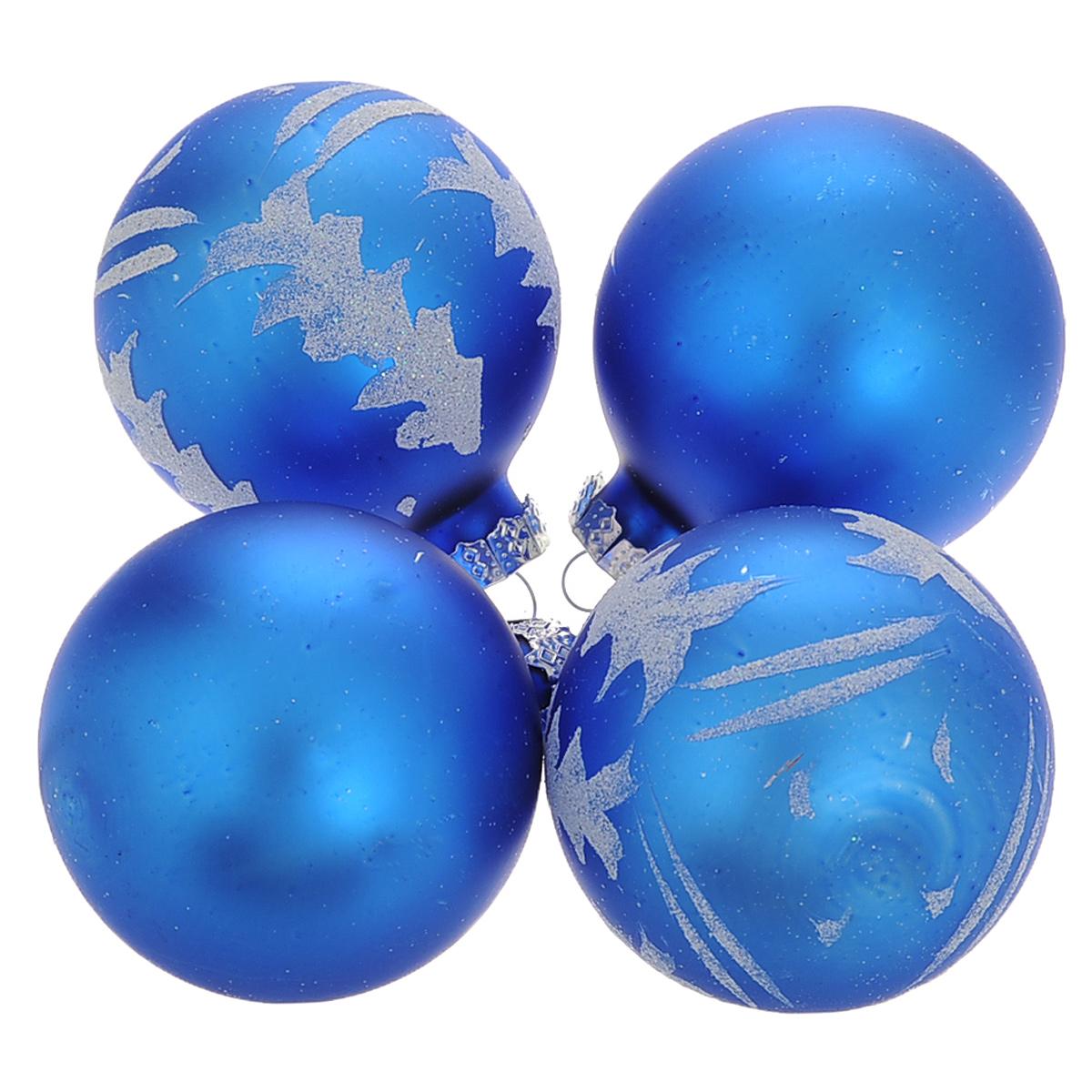 Набор новогодних подвесных украшений Шар, цвет: серебристый, синий, диаметр 6 см, 4 шт. 3448234482Набор новогодних подвесных украшений Шар прекрасно подойдет для праздничного декора новогодней ели. Состоит из четырех шаров. Елочная игрушка - символ Нового года. Она несет в себе волшебство и красоту праздника. Создайте в своем доме атмосферу веселья и радости, украшая новогоднюю елку нарядными игрушками, которые будут из года в год накапливать теплоту воспоминаний. Коллекция декоративных украшений принесет в ваш дом ни с чем несравнимое ощущение волшебства! Откройте для себя удивительный мир сказок и грез. Почувствуйте волшебные минуты ожидания праздника, создайте новогоднее настроение вашим дорогим и близким.