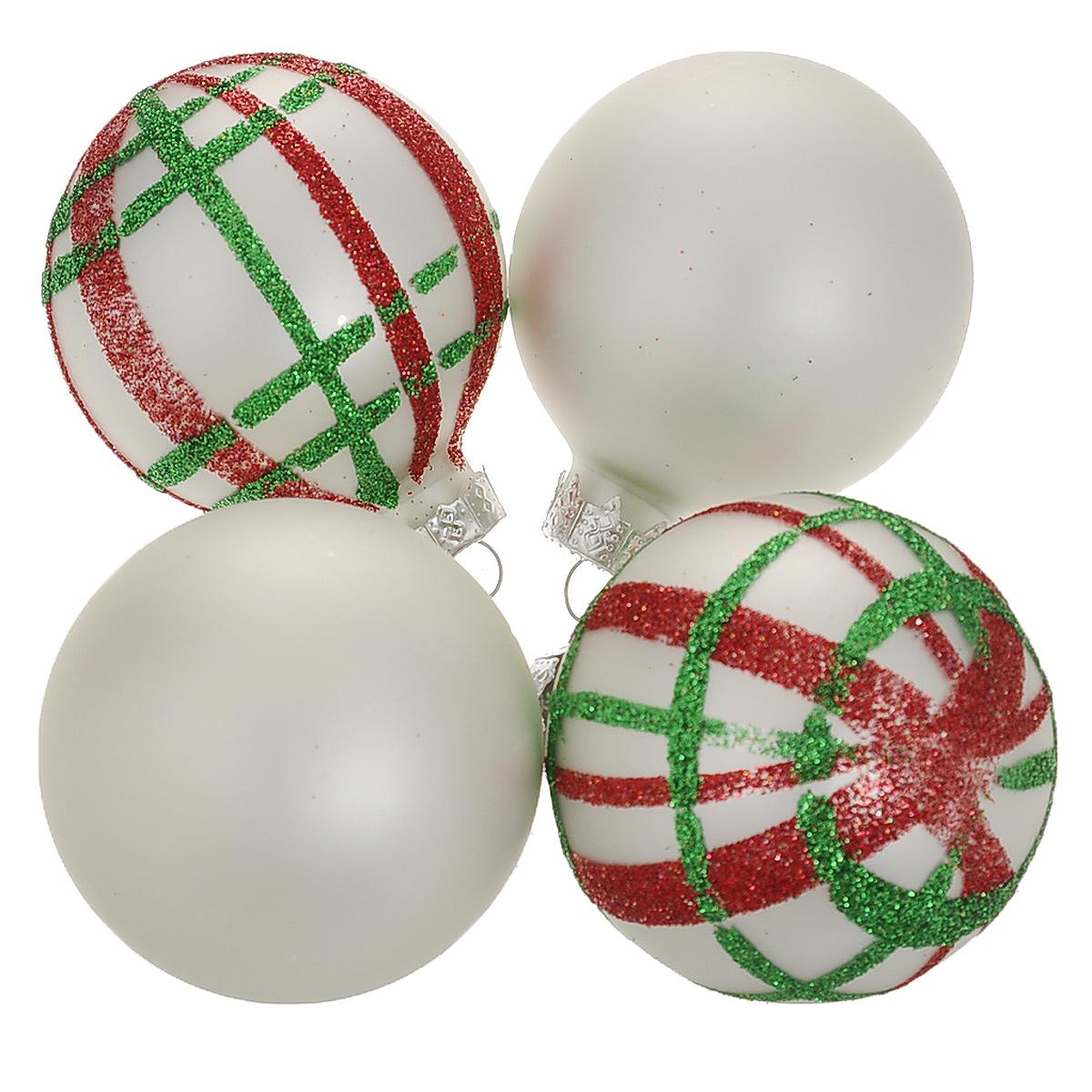 Набор новогодних подвесных украшений Шар, цвет: серебристый, красный, диаметр 6 см, 4 шт. 3449034490Набор новогодних подвесных украшений Шар прекрасно подойдет для праздничного декора новогодней ели. Состоит из четырех шаров.Елочная игрушка - символ Нового года. Она несет в себе волшебство и красоту праздника. Создайте в своем доме атмосферу веселья и радости, украшая новогоднюю елку нарядными игрушками, которые будут из года в год накапливать теплоту воспоминаний. Коллекция декоративных украшений принесет в ваш дом ни с чем несравнимое ощущение волшебства! Откройте для себя удивительный мир сказок и грез. Почувствуйте волшебные минуты ожидания праздника, создайте новогоднее настроение вашим дорогим и близким.