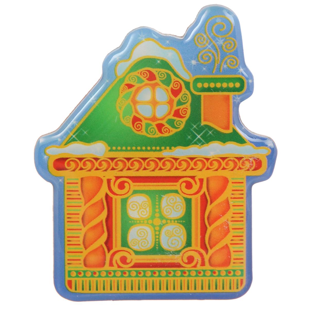 Декоративный магнит Домик, 5,5 см х 6,5 см. 3154031540Декоративный магнит Домик изготовлен из агломерированного феррита. Изделие выполнено в виде домика. Коллекция декоративных украшений из серии Magic Time принесет в ваш дом ни с чем несравнимое ощущение волшебства!Материал: агломерированный феррит.