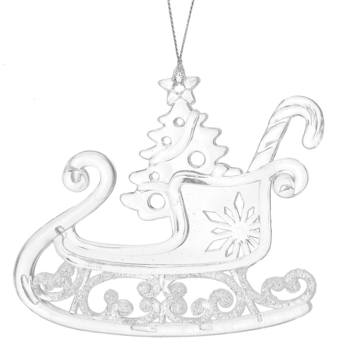 Новогоднее подвесное украшение Санки. 35040 новогоднее подвесное украшение собака ф21 1716