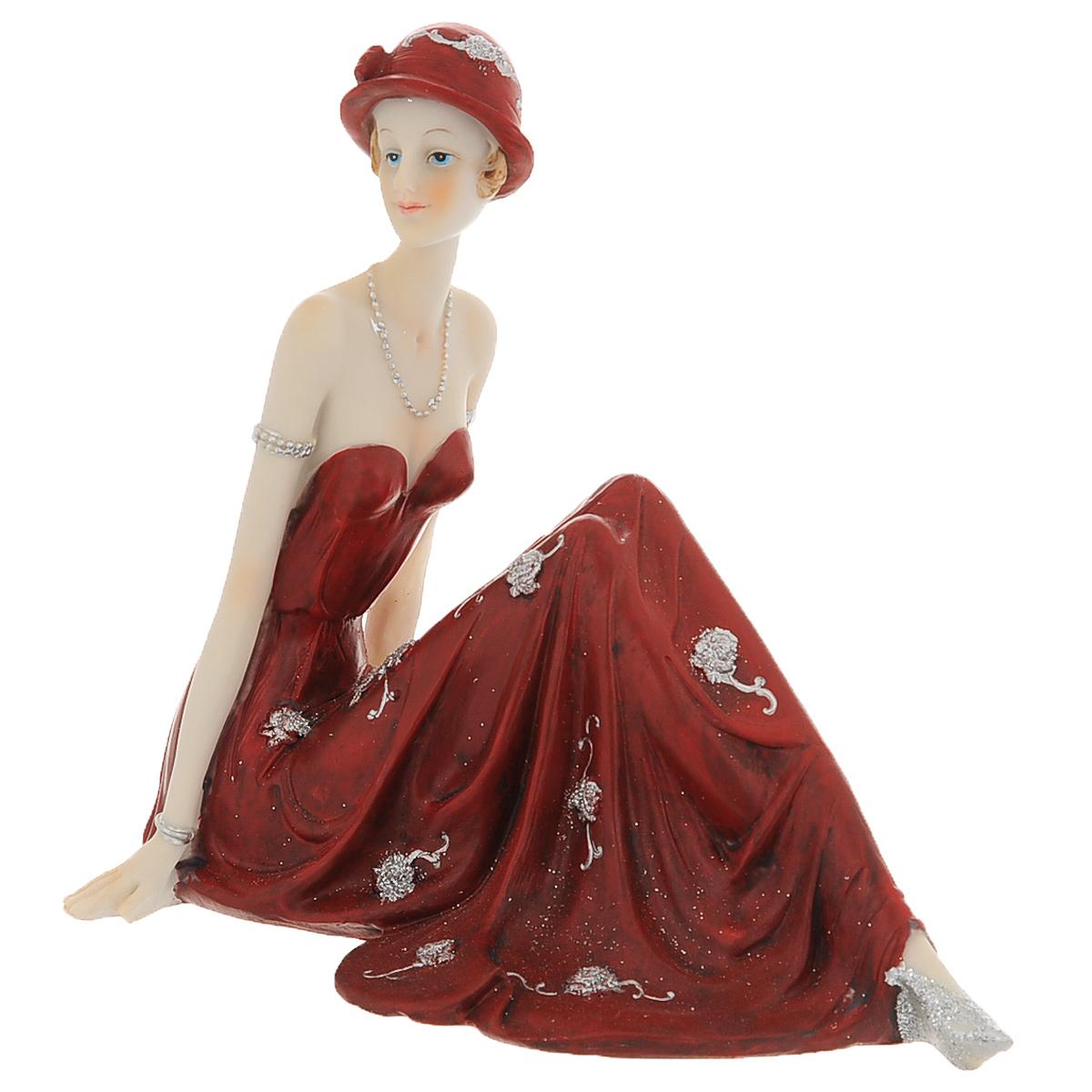 Статуэтка Molento Леди в красном платье, высота 16 см