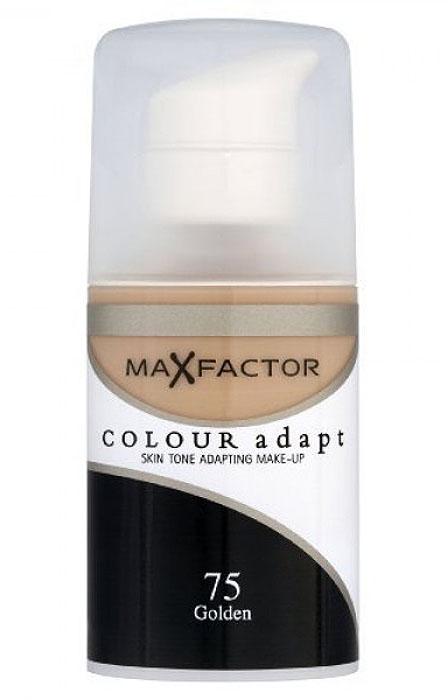 Max Factor Тональный крем Colour Adapt, тон 75 Golden (Золотой), 34 мл блеск для губ colour elixir тон 45 max factor цвет lux berry
