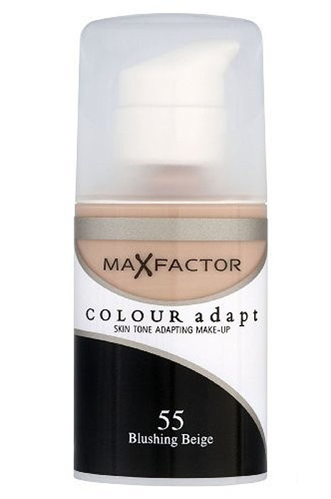 Max Factor Тональный крем Colour Adapt, тон 55 Blushing Beige (Бежевый), 34 мл80957264Тональная основа, которая поможет справиться с неровным тоном лица. Тональная основа Max Factor Colour Adapt адаптируется ктону кожи и создает естественное покрытие. Так в чемже секрет? «Умные частицы» тональной основы адаптируются ктону кожи, который отличается в разных зонах, обеспечивая невероятно легкое покрытие и не маскируя естественное свечение кожи. Тональная основа Max Factor Colour Adapt обеспечивает идеальный тон, кожа выглядит свежей и сияющей весь день. Инновационная технология для совершенства кожи. Помогает выровнять тон кожи, скрыть несовершенства и мелкие морщинки для создания идеального образа. Тональная основа Max Factor Colour Adapt имеет легкую формулу крем-пудры и подстраивается под любой тон кожи для удивительно естественного образа. Эмульсия на основе силикона и эластомера адаптируется ктону кожи и обеспечивает естественное умеренное покрытие для создания нежного и невесомого макияжа. Основа не содержит масел, подходит для чувствительной кожи, протестирована дерматологами, не закупоривает поры. Кремово-пудровая текстура для безупречного покрытия. Ультралегкая формула не сушит кожу. Содержит несколько цветовых пигментов, которые адаптируются ктону кожи. Не содержит масла, подходит для чувствительной кожи. Не закупоривает поры. Протестировано дерматологами.Сравни тон основы с тоном кожи на щеках и линии челюсти, чтобы подобрать идеальный оттенок. Если тон подобран правильно, то он буквально исчезнет на твоей коже. Чтобы достичь ровного покрытия, нанеси небольшое количество основы на тыльную сторону ладони и распредели по лицу кистью или кончиками пальцев. Нанеси небольшое количество на центральную часть лица и растушуй от центра кпериферии. Нанеси средство на веки и губы в качестве базы под тени и помаду.