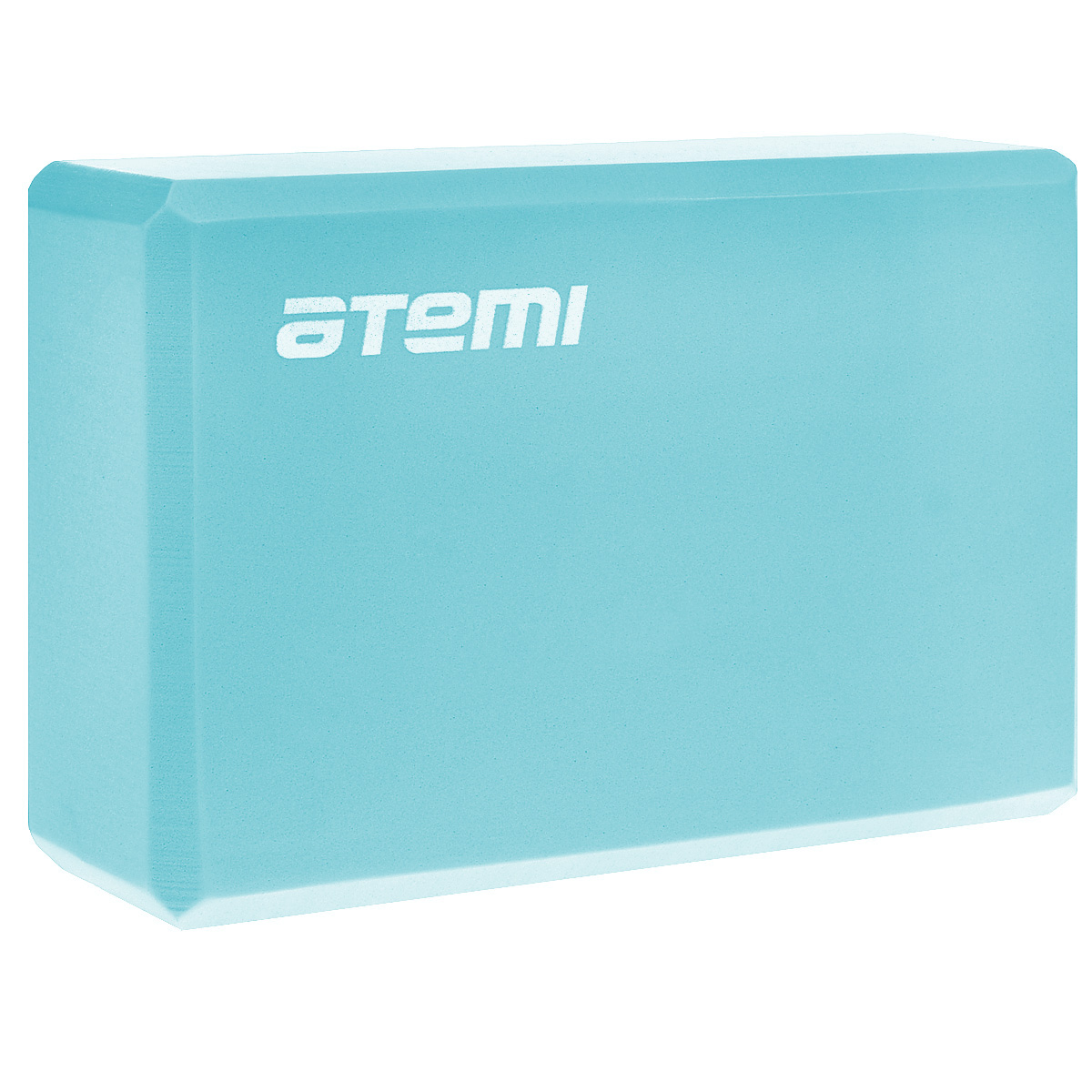Блок для йоги Atemi, цвет: голубой, 23 х 15 х 8 см
