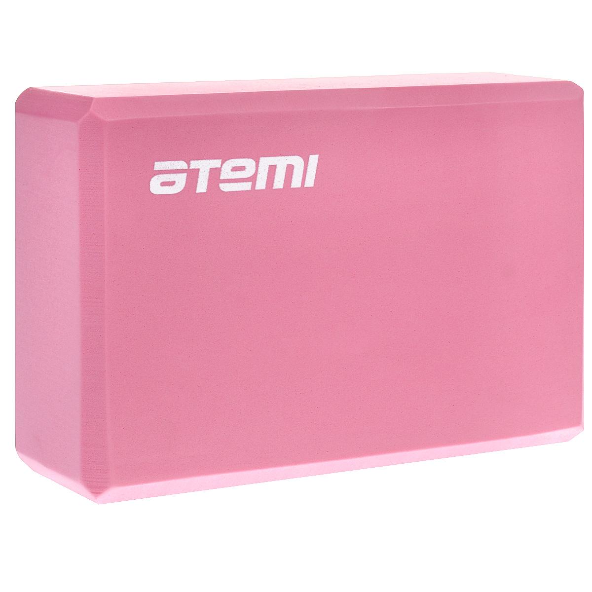 Блок для йоги Atemi, цвет: розовый, 23 х 15 х 8 см