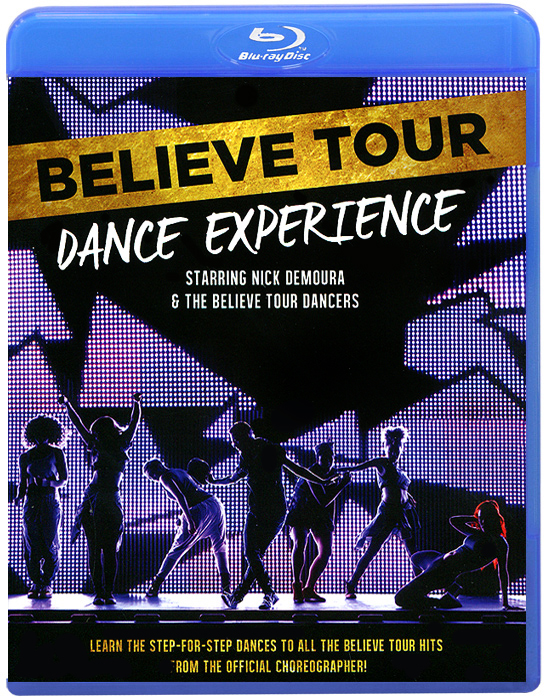 Step into the world of professional choreographer and dancer Nick DeMoura, as he takes you song-by-song and step-by-step through the dance moves for the hottest songs from Justin Bieber's Believe Tour. Joined by Justin's official tour dancers, you'll learn the exact moves that Justin and his crew performed live on tour, straight from the man who choreographed them. With easy to learn breakdowns, never-before-seen behind the scenes footage, and full-scale dance performances, the Believe TourBance Experience is both a great workout tool and the ultimate tutorial to put you in the running to become one of Justin's backup dancers.Содержание: 01. Warm Up  02. What Does it Mean to Be a Dancer  03. Beauty and a Beat  04. What Does it Take to Make it  05. As Long As You Love Me  06. Tips For Your Technique  07. Boyfriend  08. As Long As You Love Me/Recap  09. Beauty and a Beat/Recap  10. Living the Dream