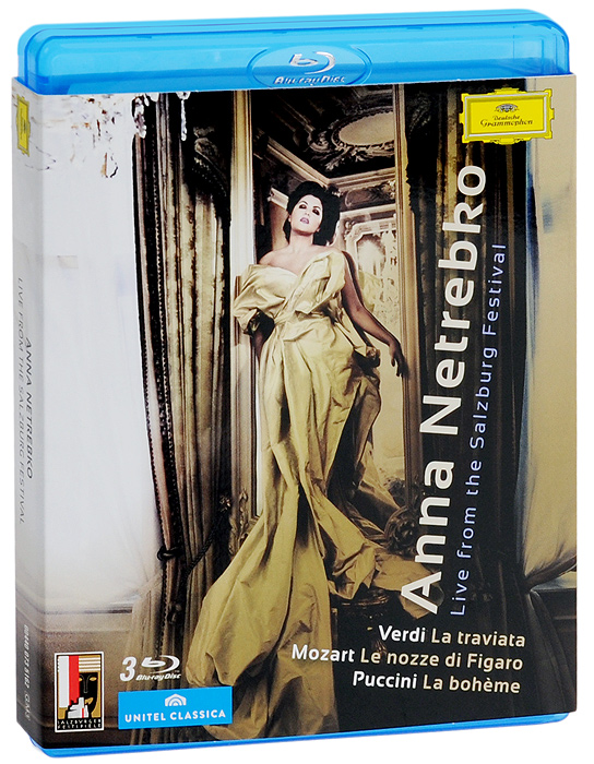 Anna Netrebko. Live From The Salzburg Festival (3 Blu-Ray) anna netrebko live from the salzburg festival 3 blu ray
