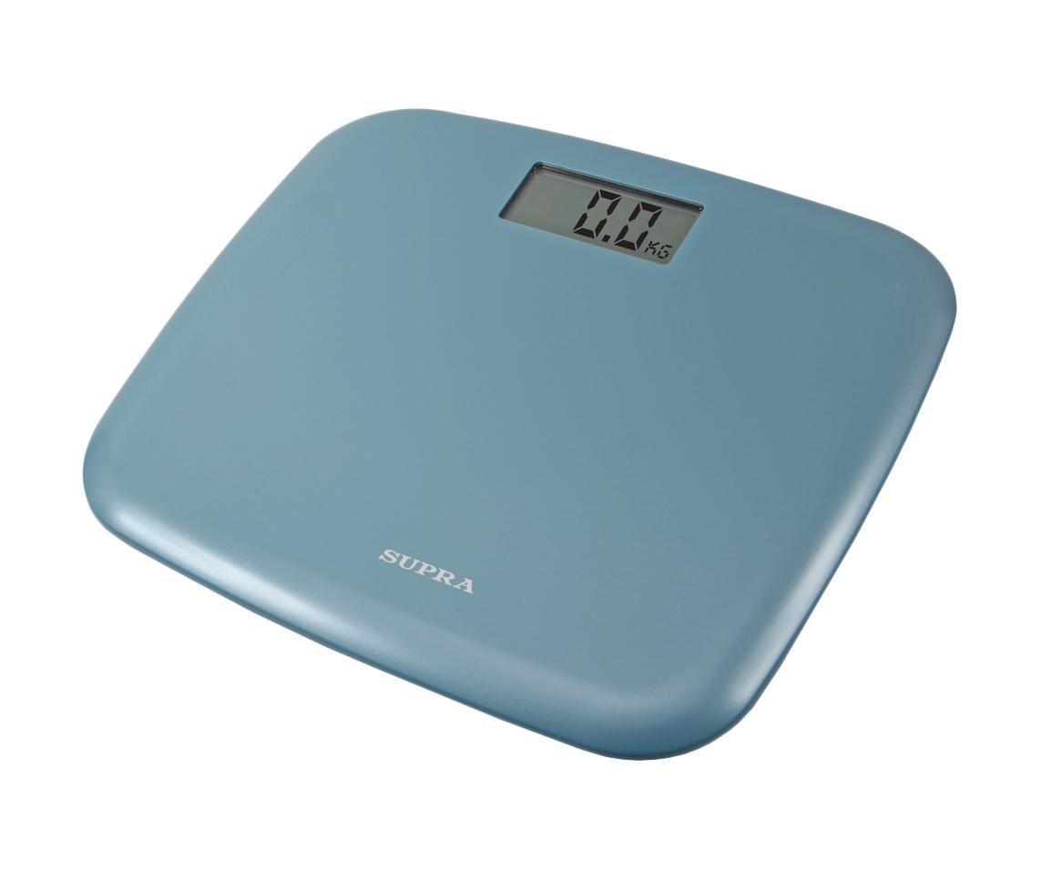 Supra BSS-6050, Blue напольные весыBSS-6050 blueЭлектронные напольные весы Supra BSS-6050 с поверхностью из прочного пластика и функцией автоматического отключения станут неизменным спутником для людей, следящих за своим весом. Дисплей с крупными цифрами сделает использование прибора максимально удобным, а индикация низкого заряда батареи поможет обеспечить своевременный уход.Диапазон измеряемого веса: 5-150 кг.