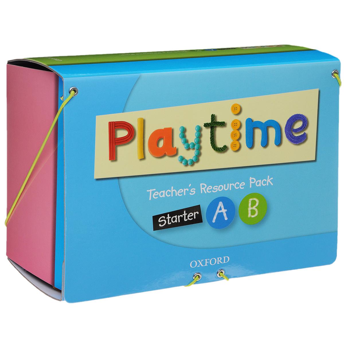 Playtime: Teacher's Resource Pack: Starter A, B (комплект из 3 DVD, 3 книг, 70 карточек, 4 постеров и игрушки) коробка dvd