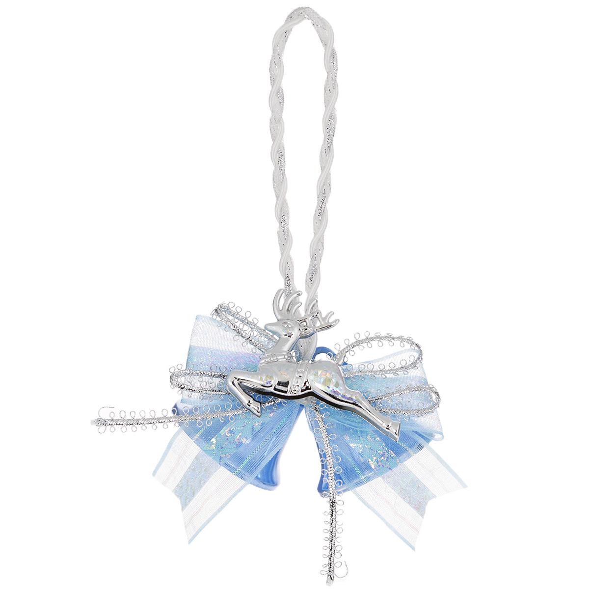 Новогоднее подвесное украшение Колокольчики, цвет: голубой. 3501935019