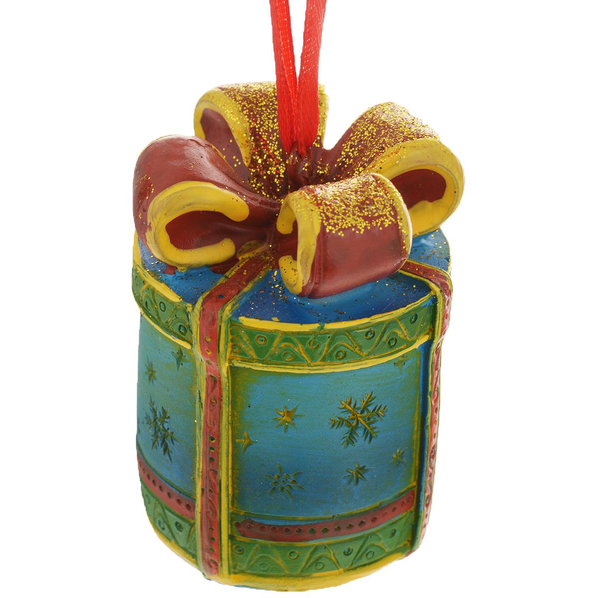 Новогоднее подвесное украшение Феникс-Презент Подарок. 34597 новогоднее оконное украшение феникс презент обезьянки