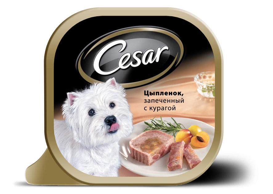 Консервы Cesar, для взрослых собак мелких пород, цыпленок с курагой, 100 г10222Консервы Cesar - это полнорационный консервированный корм для взрослых собак мелких пород. Консервы представляют собой аппетитные кусочки мяса в подливе. Кроме того, в их состав входят овощи и ароматные травы, поэтому Cesar придется по душе даже самым привередливым собакам.Консервы приготовлены исключительно из натурального сырья. Не содержат искусственных красителей, консервантов и усилителей вкуса. Состав: курица (минимум 27%), говядина, ягненок, курага (минимум 3,2%), растительное масло, розмарин, витамины и минеральные вещества.Пищевая ценность в 100 г: белки - 7,5 г, жир - 3,5 г, зола - 0,3 г, клетчатка - максимум 0,4 г, влага 85 г. Энергетическая ценность в 100 г: 70 ккал.Товар сертифицирован.