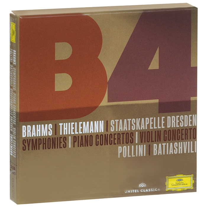 Staatskapelle Dresden Orchestra,Кристиан Тильманн Maurizio Pollini, Lisa Batiashvili, Staatskapelle Dresden, Christian Thielemann. Brahms. Symphonies / Piano Concertos / Violin Concerto (3 CD + DVD)