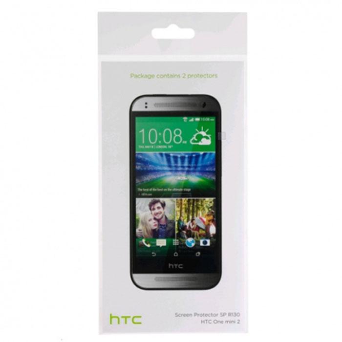 HTC SP R130 защитная пленка для One mini 222409Оригинальная защитная пленка для экрана смартфона HTC One mini 2. Благодаря использованию высококачественного материала пленка легко наклеивается, плотно прилегает, имеет высокую прозрачность и устойчивость к механическим воздействиям. Потребительские свойства и эргономика сенсорного экрана при этом не ухудшаются.В комплект входят 2 пленки.