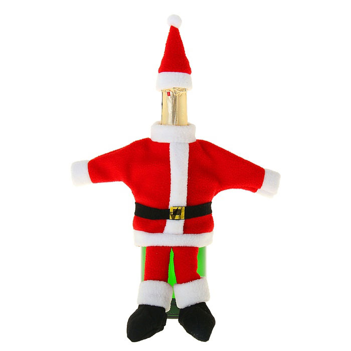 Новогодний чехол на бутылку Sima-land Дедушка Мороз. 333464333464Новогодний чехол на бутылку Sima-land Дедушка Мороз послужит оригинальным вариантом оформления бутылки вина или шампанского. Чехол выполнен из текстиля в виде Деда Мороза. В комплект входит колпак для горлышка бутылки.Благодаря такому чехлу даже обычное шампанское превратится в приятный презент.Размер чехла: 25,5 см х 28 см.Размер колпака: 4,5 см х 4,5 см х 10 см.