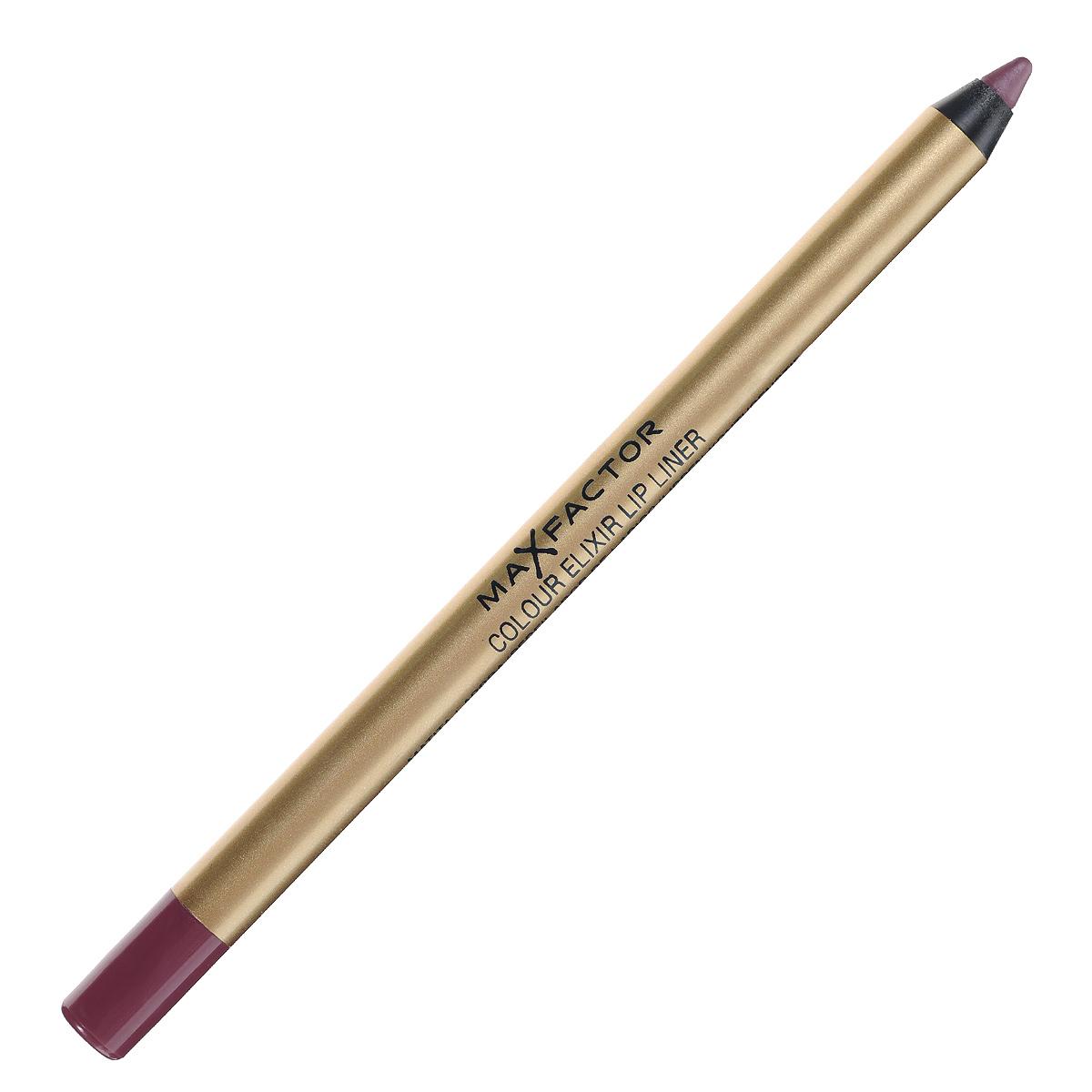 Max Factor Карандаш для губ Colour Elixir Lip Liner, тон №06 mauve moment, цвет: лиловый81440170Секрет эффектного макияжа губ - правильный карандаш. Он мягко касается губ и рисует точную линию, подчеркивая контур и одновременно ухаживая за губами. Карандаш для губ Colour Elixir подчеркивает твои губы, придавая им форму. - Роскошный цвет и увлажнение для мягких и гладких губ. - Оттенки подходят к палитре помады Colour Elixir. - Легко наносится.1. Выбирай карандаш на один тон темнее твоей помады 2. Наточи карандаш и смягчи кончик салфеткой 3. Подведи губы в уголках, дугу Купидона и середину нижней губы, затем соедини линии 4. Нанеси несколько легких штрихов на губы, чтобы помада держалась дольше.