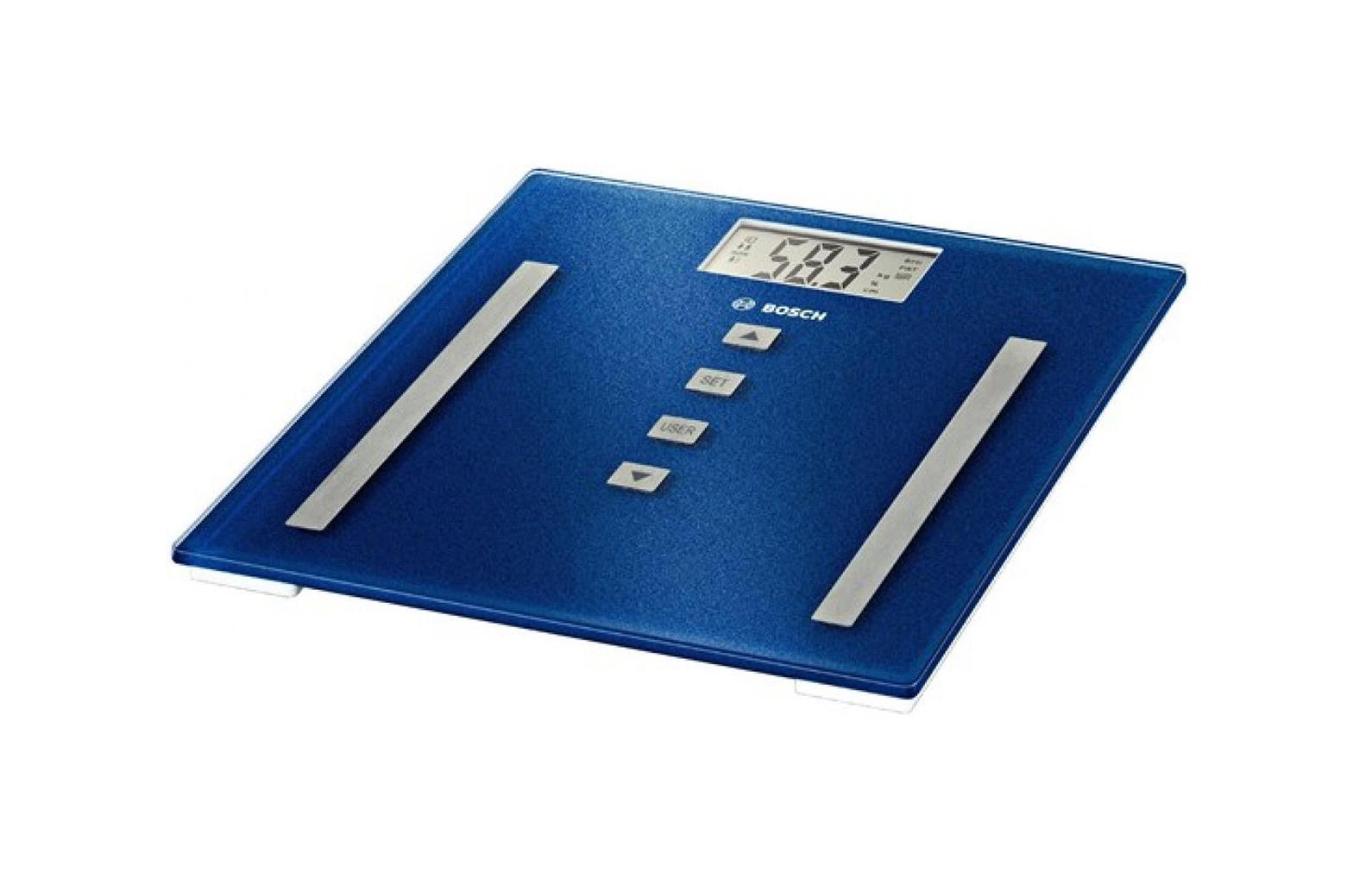 Bosch PPW 3320 напольные весыPPW3320Стильные супертонкие напольные весы Bosch PPW 3320 с большим дисплеем удобны для ежедневного контроля веса. Оснащены функцией автоматического включения/выключения, а также функциями определения доли воды и доли жировой ткани. Нагрузка до 180 килограммов.