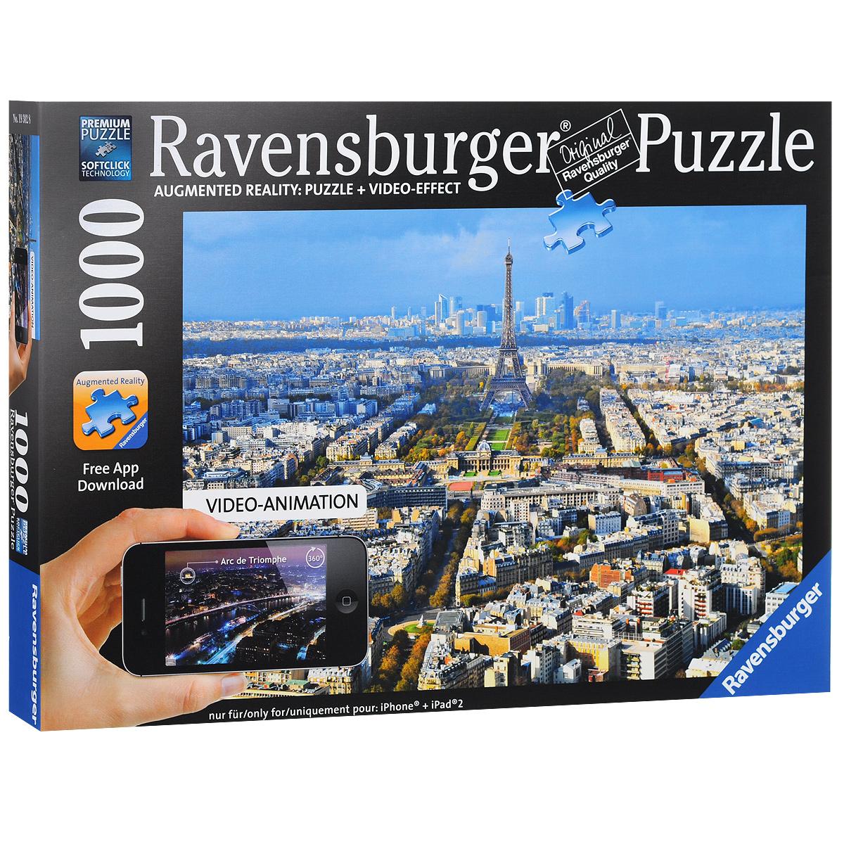 Ravensburger Крыши Парижа. Пазл с видео-анимацией, 1000 элементов