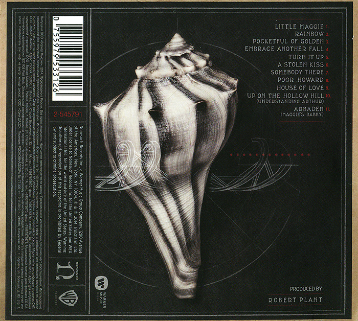 Robert Plant And The Sensational Space Shifters.  Lullaby and. . .  The Ceaseless Roar Warner Music