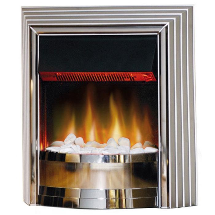 EWT Castillo электрокаминCastilloУникальный Камин EWT Castillo выполненный в стиле Модерн с отделкой из хромированных деталей сочетает в себе современность, стиль и уют. Естественное пламя Optiflame вырывается из белых декоративных камней и создает поистине футуристическое зрелище. Этот камин является не только источником тепла, но и отличным стильным дополнением в интерьере квартиры. Имеет 4 ступени переключения.