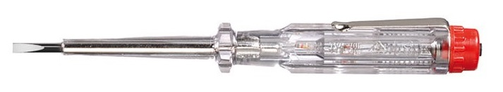 Отвертка-пробник однополюсный 255-3L 3,0x60 Wiha 0527105271Однополюсный пробник напряжения 220-250 В. Применяется для определения переменных напряжений в области низкого напряжения до 250 В по отношению к потенциалу земли. Согласно DIN 57860-6 и VDE 0680-6, знак GS, соответствие CE. Жало выполнено из хромованадиевой стали с никелевым покрытием, сплошная закалка. Отвертка-пробник имеет прозрачную рукоятку с зажимом.Подходит для профессионалов на предприятии и в мастерской, а также для домашних умельцев.