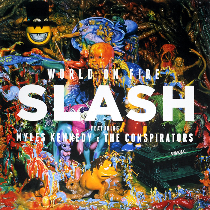 Slash Slash. World On Fire (2 LP) ваза 17 3 9 2 5 см под уп 1186318