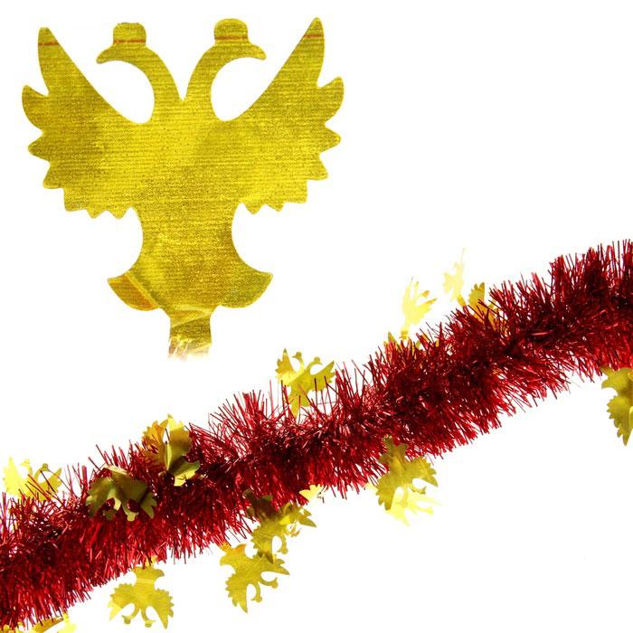 Мишура новогодняя Sima-land, цвет: красный, золотистый, диаметр 5 см, длина 2 м. 279371 мишура новогодняя sima land цвет золотистый красный диаметр 7 см длина 2 м 279377