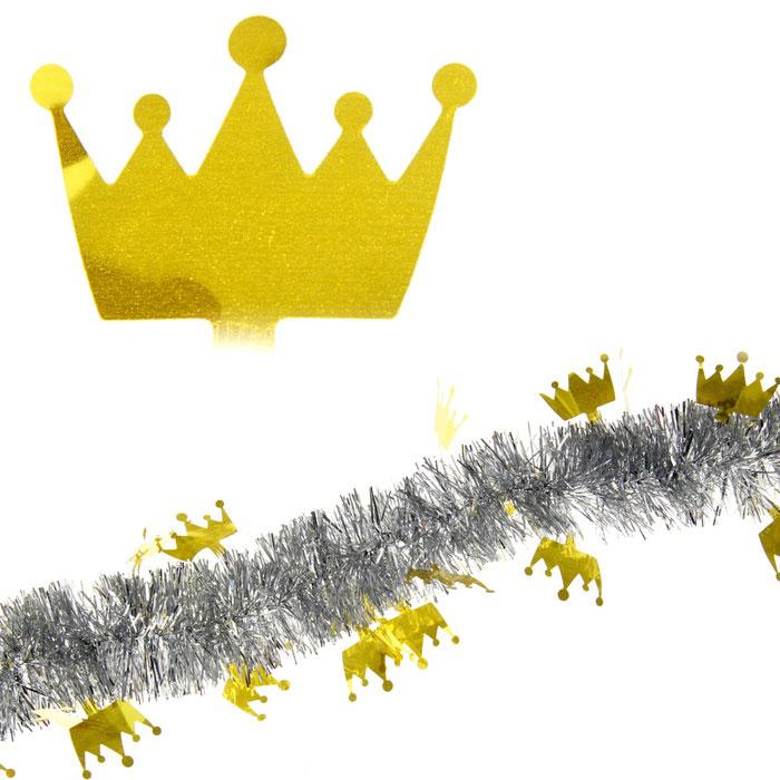 Мишура новогодняя Sima-land, цвет: золотистый, серебристый, диаметр 5 см, длина 2 м. 279376279376Новогодняя мишура Sima-land, выполненная из фольги, поможет вам украсить свой дом к предстоящим праздникам. А новогодняя елка с таким украшением станет еще наряднее. Мишура армирована, то есть имеет проволоку внутри и способна сохранять приданную ей форму. Новогодней мишурой можно украсить все, что угодно - елку, квартиру, дачу, офис - как внутри, так и снаружи. Можно сложить новогодние поздравления, буквы и цифры, мишурой можно украсить и дополнить гирлянды, можно выделить дверные колонны, оплести дверные проемы. Коллекция декоративных украшений из серии Зимнее волшебство принесет в ваш дом ни с чем несравнимое ощущение праздника! Создайте в своем доме атмосферу тепла, веселья и радости, украшая его всей семьей.