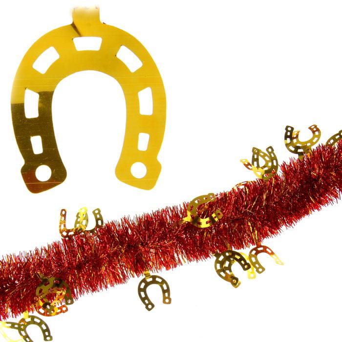 Мишура новогодняя Sima-land, цвет: красный, золотистый, диаметр 7 см, длина 2 м. 279381279381Мишура новогодняя Sima-land, выполненная из двухцветной фольги, поможет вам украсить свой дом к предстоящим праздникам. Мишура армирована, то есть имеет проволоку внутри и способна сохранять приданную ей форму. Новогодняя елка с таким украшением станет еще наряднее. Новогодней мишурой можно украсить все, что угодно - елку, квартиру, дачу, офис - как внутри, так и снаружи. Можно сложить новогодние поздравления, буквы и цифры, мишурой можно украсить и дополнить гирлянды, можно выделить дверные колонны, оплести дверные проемы. Коллекция декоративных украшений из серии Зимнее волшебство принесет в ваш дом ни с чем несравнимое ощущение праздника! Создайте в своем доме атмосферу тепла, веселья и радости, украшая его всей семьей.