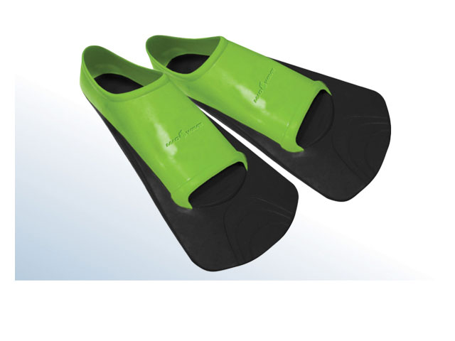 Ласты тренировочные для плавания Mad Wave Training II Rubber, цвет: черный, зеленый. Размер 40-42 ласты для плавания wave р 40 41 серые f 6871