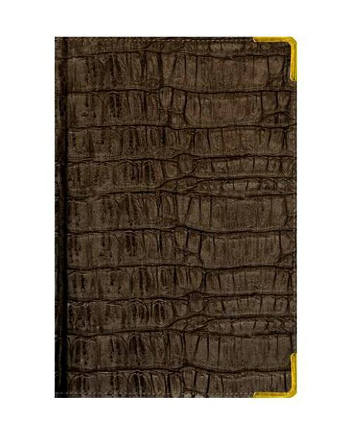 Ежедневник А6 Недатированный Skin (серо-коричневый) 152л. (BUSINESS PRESTIGE) Искусственная кожа с поролономЕКП15615203В линейке бизнес-ежедневников представлены датированные, полудатированные и недатированные внутренние блоки на офсетной бумаге плотностью 70гр.м. Коллекция прекрасно подходит в качестве подарка. Обложка обладаетвозможностью термотиснения. Внутренний блок прошит, что гарантирует отсутствие потери листов при активном использовании. Цветные форзацы подчеркивают высокий статус ежедневника. Металлические скругленные углы защищают эту серию продукции при активном использовании. Особый шарм и статус ежедневникам придает разнообразие отделок поверхностей. Исследование с фокус-группами показало, что качество текстур неотличимо от оригинальных поверхностей. Доступный статус - кредо коллекции Business Prestige! Виды отделки: Ancient (гладкая и мягкая кожа), Iguana, Skin, Gold, Nappa, Croco, Grand croco, Impact. Разметка: . Бумага: . Формат: А6. Пол: Унисекс. Особенности: металлические уголки, цветной торец (золото), бумага тонированная, ляссе 2шт..