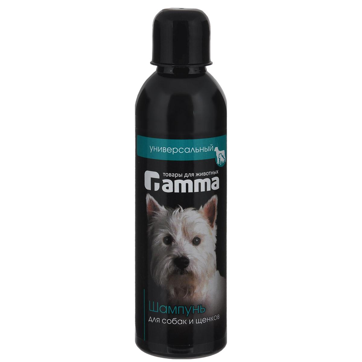 Шампунь универсальный Гамма для взрослых собак и щенков, 250 мл миска для кошек собак гамма n0