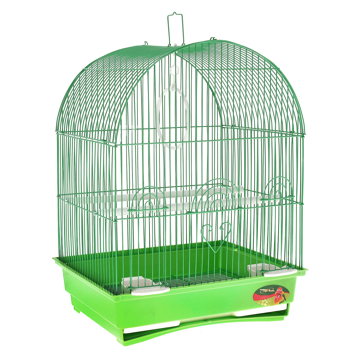 Клетка для птиц, цвет: зеленый, 35 см х 28 см х 46 см клетка для мелких животных triol на колесиках 64 см х 43 5 см х 92 5 см