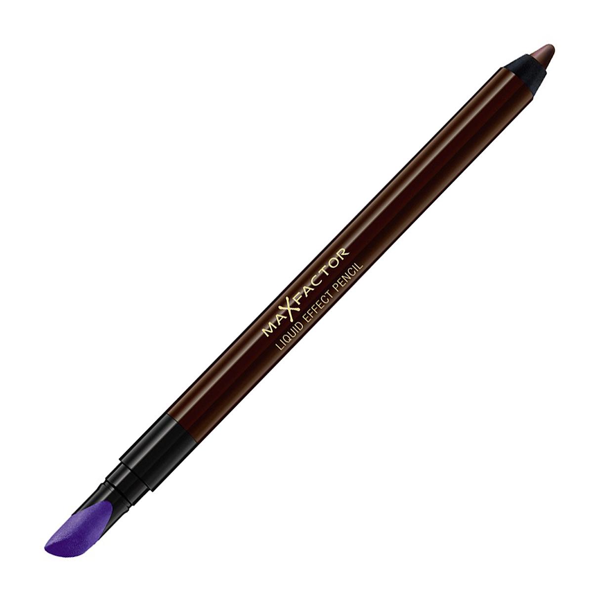 Max Factor Карандаш для глаз Liquid Effect Pencil, тон №05 Brown blaze, цвет: коричневый81440185Контурный карандаш для глаз Liquid Effect Pencil - это уникальное экспертное решение компании MaxFactor для макияжа глаз.Удобство использования карандаша сочетается с четкостью линий и насыщенностью цвета подводки для век. При помощи специального наконечника можно плавно растушевать стрелки и создать эффект Smoky eyes.Устойчивый к внешним воздействиям. Универсальный карандаш для век поможет придать вашим глазам особую выразительность и таинственность с легким эффектом гламура. Товар сертифицирован.