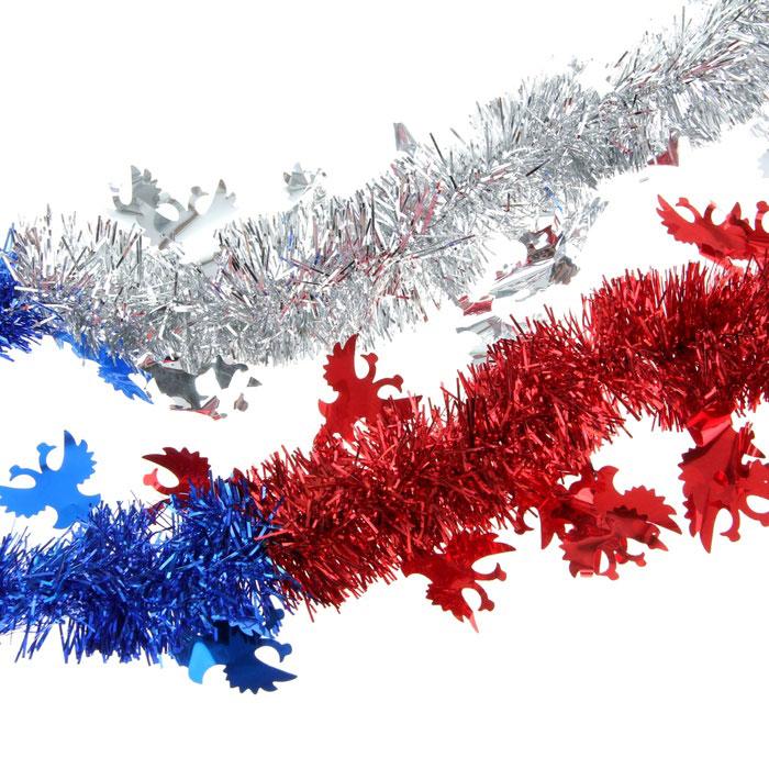 Мишура новогодняя Sima-land, цвет: синий, красный, серебристый, диаметр 5 см, длина 2 м. 279388279388Мишура новогодняя Sima-land, выполненная из трехцветной фольги, поможет вам украсить свой дом к предстоящим праздникам. Мишура армирована, то есть имеет проволоку внутри и способна сохранять приданную ей форму.Новогодняя елка с таким украшением станет еще наряднее. Новогодней мишурой можно украсить все, что угодно - елку, квартиру, дачу, офис - как внутри, так и снаружи. Можно сложить новогодние поздравления, буквы и цифры, мишурой можно украсить и дополнить гирлянды, можно выделить дверные колонны, оплести дверные проемы. Коллекция декоративных украшений из серии Зимнее волшебство принесет в ваш дом ни с чем несравнимое ощущение праздника! Создайте в своем доме атмосферу тепла, веселья и радости, украшая его всей семьей.