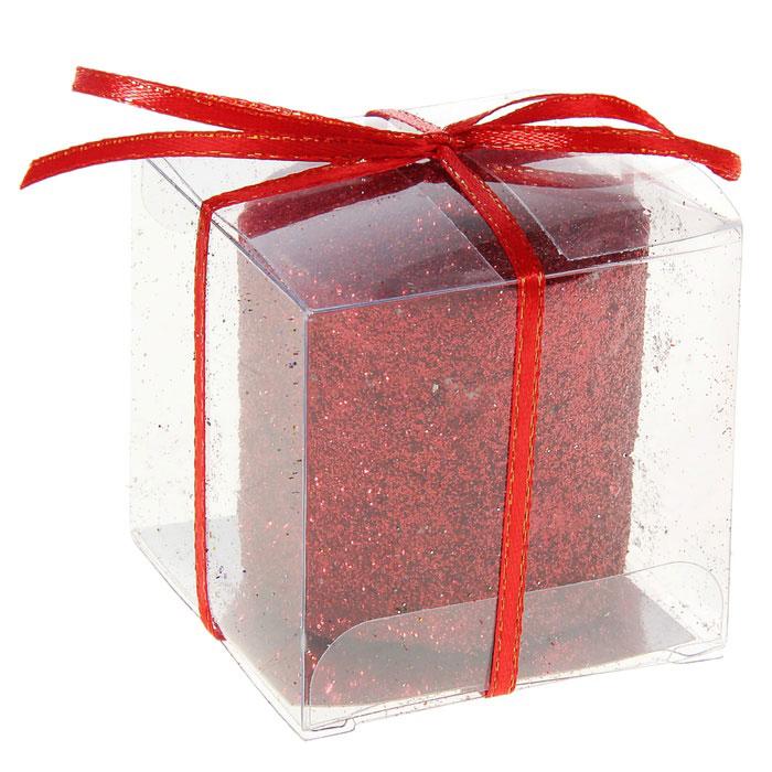 Свеча декоративная Sima-land Столбик, цвет: красный. 296062 sima land антистрессовая игрушка заяц хрустик 05 цвет красный