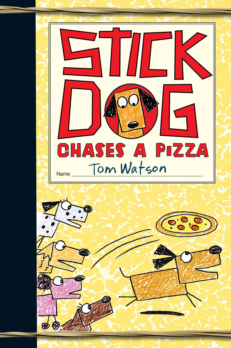 Stick Dog Chases a Pizza stick dog slurps spaghetti