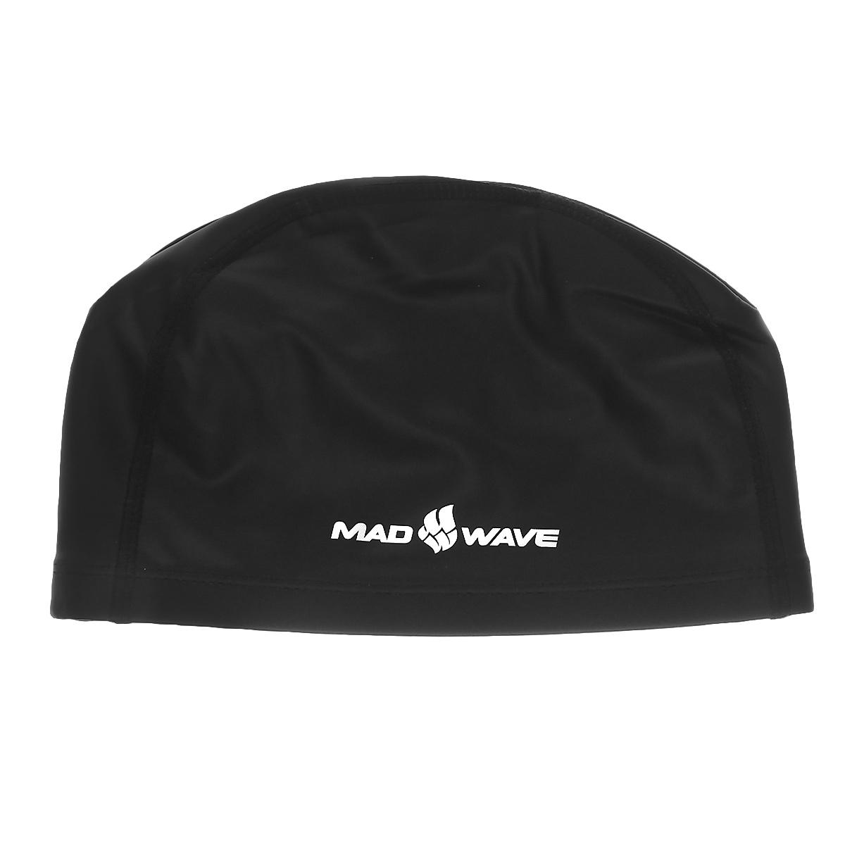 Шапочка для плавания Mad Wave PUT Coated, цвет: черный2220Текстильная шапочка Mad Wave PUT Coated с полиуретановым покрытием. Лучший выбор для ежедневных тренировок. Легкая и эргономичая. Легко снимается и надевается, хорошо садится по форме головы и очень комфортна, благодаря комбинации нескольких материалов.