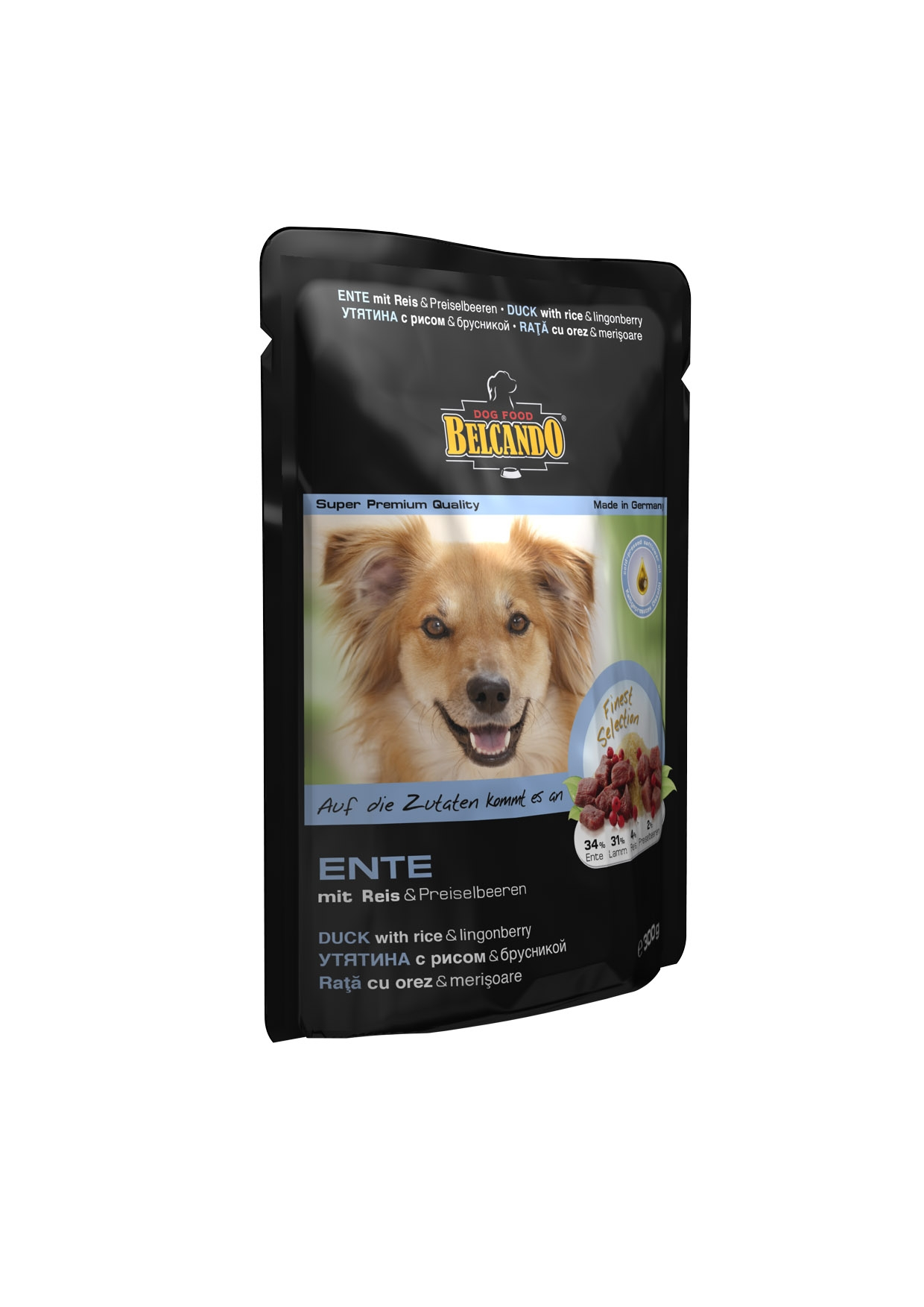 Консервы для собак Belcando, с уткой, рисом и брусникой, 125 г