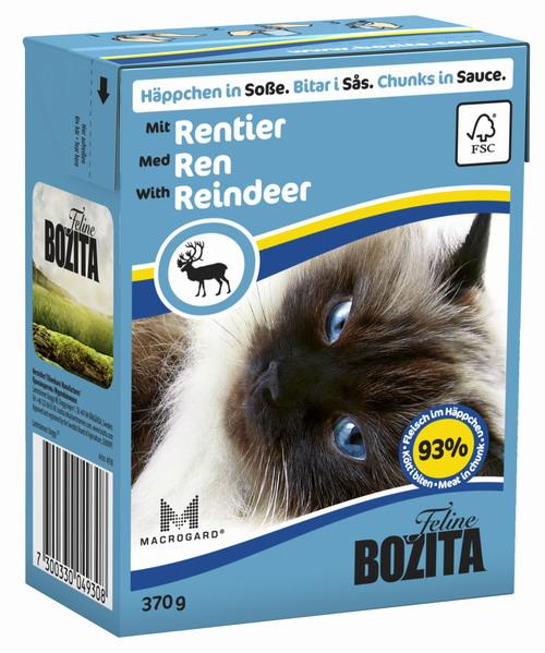 Консервы для кошек Bozita Feline, с мясом оленя в соусе, 370 г консервы для кошек bozita feline с лососем в желе 370 г