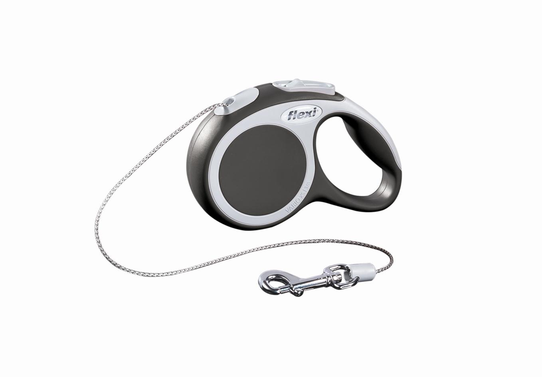 Поводок-рулетка Flexi Vario Basic ХS для собак до 8 кг, цвет: серый, 3 м019009Поводок-рулетка Flexi Vario Basic ХS изготовлен из пластика и нейлона. Тросовый поводок обеспечивает каждой собаке свободу движения, что идет на пользу здоровью и радует вашего четвероногого друга. Рулетка очень проста в использовании, оснащена кнопками кратковременной и постоянной фиксации. Ее можно оснастить - мультибоксом для лакомств или пакетиков для сбора фекалий, LED подсветкой корпуса, своркой или ремнем с LED подсветкой. Поводок имеет прочный корпус, хромированную застежку и светоотражающие элементы.Длина поводка: 3 м. Максимальная нагрузка: 8 кг.Товар сертифицирован.