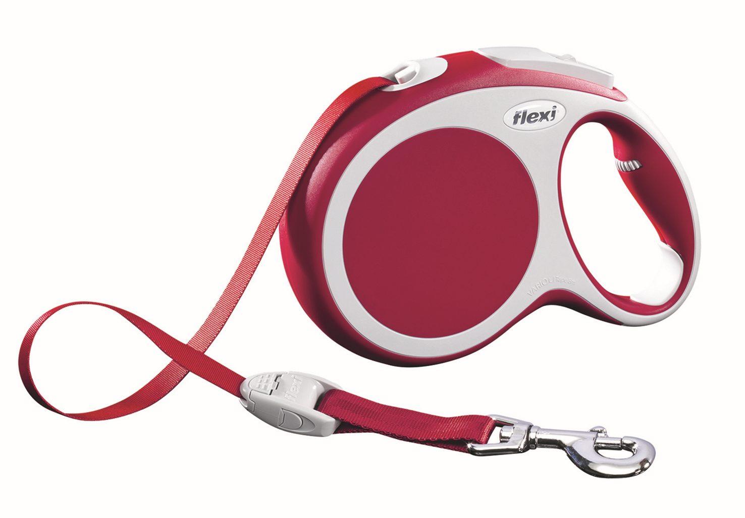 Поводок-рулетка Flexi Vario Compact L для собак до 50 кг, цвет: красный, 8 м020210Поводок-рулетка Flexi Vario Compact L изготовлен из пластика и нейлона. Подходит для собак весом до 50 кг. Ленточный поводок обеспечивает каждой собаке свободу движения, что идет на пользу здоровью и радует вашего четвероногого друга. Рулетка очень проста в использовании. Она оснащена кнопками кратковременной и постоянной фиксации. Ее можно оснастить мультибоксом для лакомств или пакетиков для сбора фекалий, LED подсветкой корпуса, своркой или ремнем с LED подсветкой. Поводок имеет прочный корпус, хромированную застежку и светоотражающие элементы.Длина поводка: 8 м. Максимальная нагрузка: 50 кг.Товар сертифицирован.