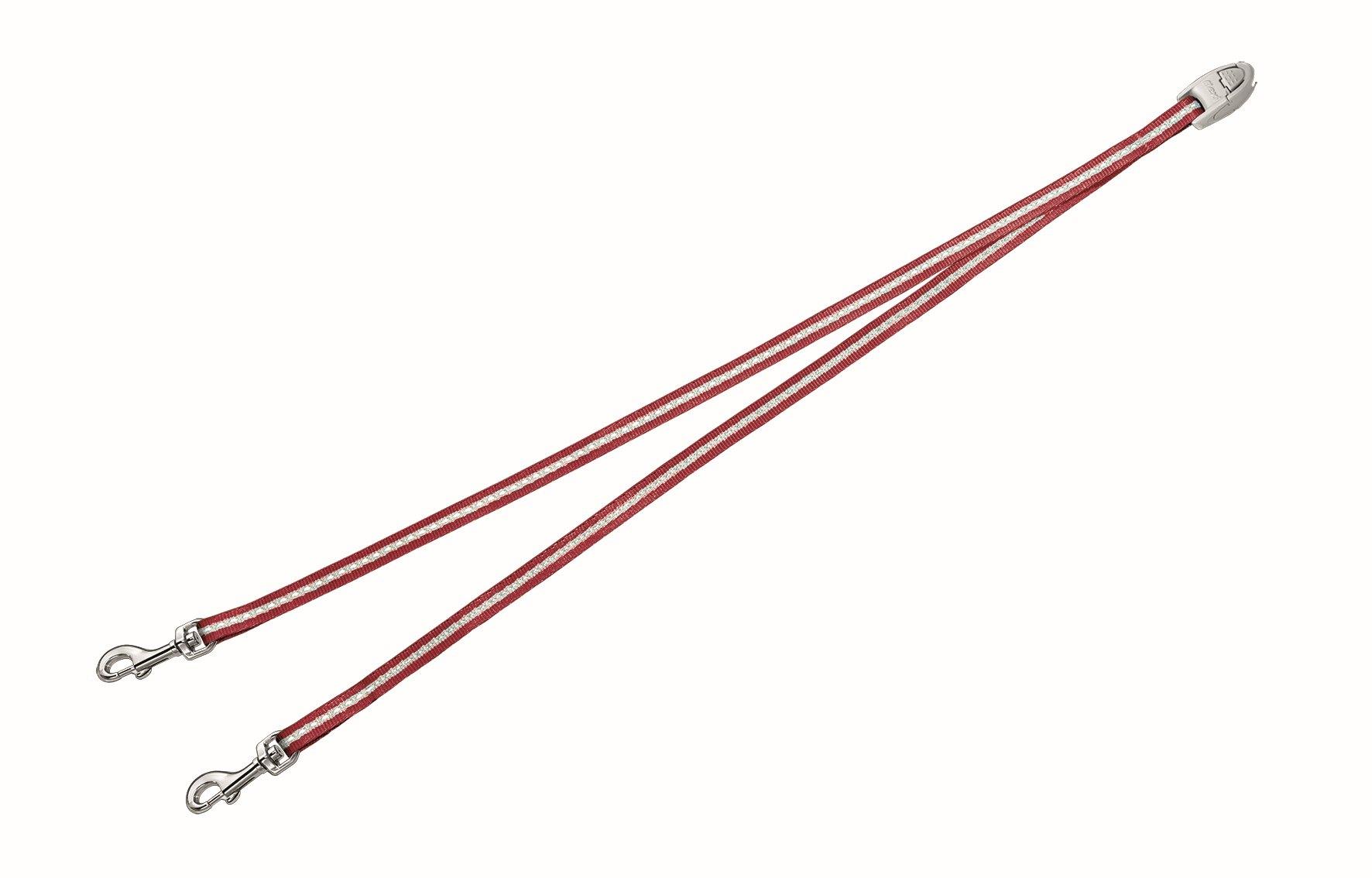 Сворка Flexi Vario Duo Belt S для собак до 5 кг, цвет: красный, 42 см020715Сворка Flexi Vario Duo Belt S изготовлена из металла и нейлона. Данный аксессуар позволяет адаптировать рулетку для выгула 2 собак. Сворка обеспечивает каждой собаке свободу движения, что идет на пользу здоровью и радует вашего четвероногого друга. Сворка Flexi - специальное дополнение к поводку Flexi Vario размером S. При выборе рулетки для двух собак нужно учитывать суммарный вес обеих собак. Поводок имеет хромированную застежку.Длина поводка (без учета карабина): 42 см. Ширина поводка: 9 мм.Максимальная нагрузка: 5 кг.Товар сертифицирован.
