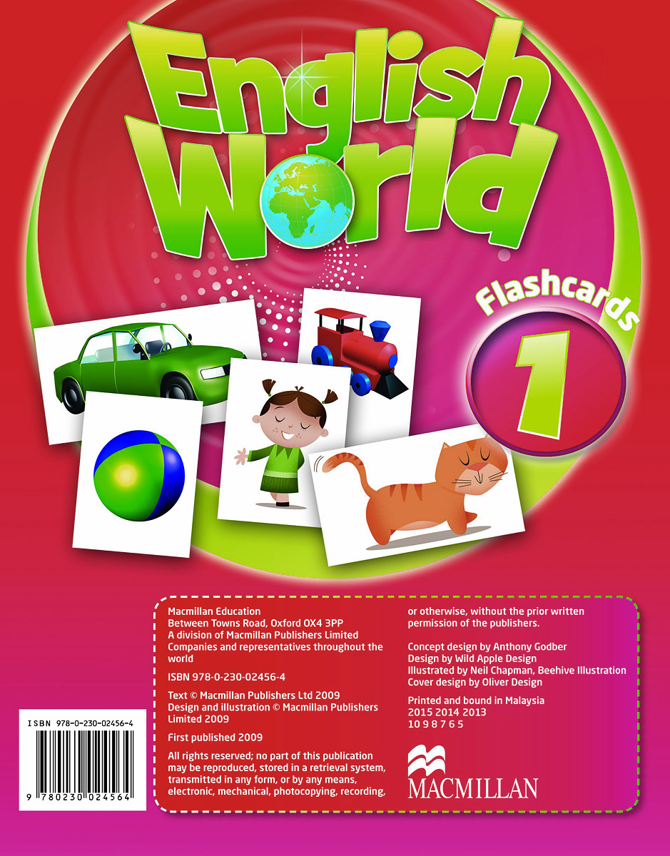 English World 1: Flashcards (набор из 158 карточек) fourth grade vocabulary flashcards