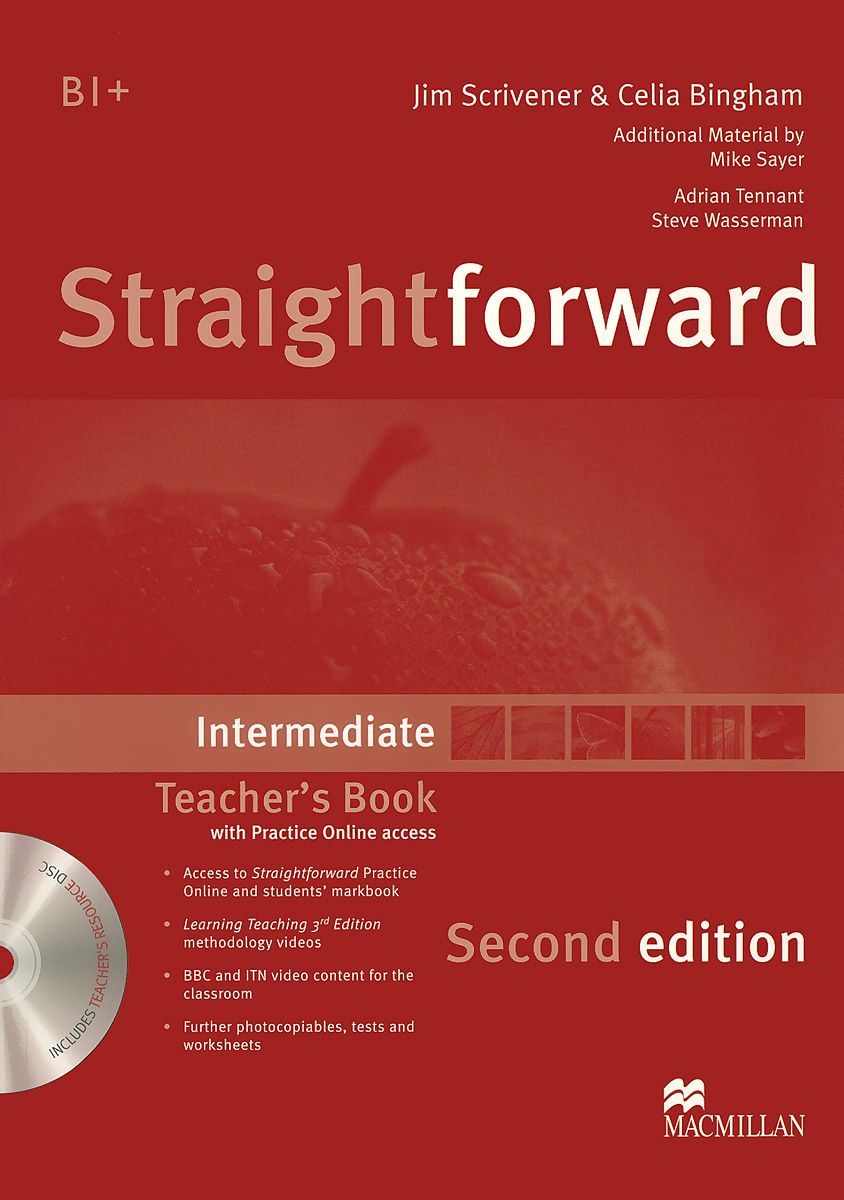 Straightforward Intermediate: Teacher's Book (+ CD-ROM) kathy burke ben rowdon wavelength intermediate teacher s resource book
