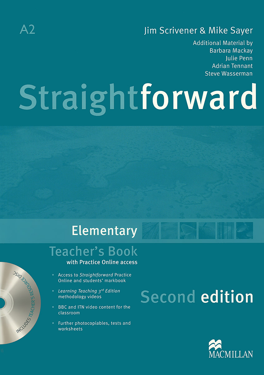 Straightforward A2: Elementary: Teacher's Book (+ DVD-ROM) murphy r essential grammar in use 3rd edition classware for elementary students of english dvd rom